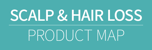 scalp & hair loss product map